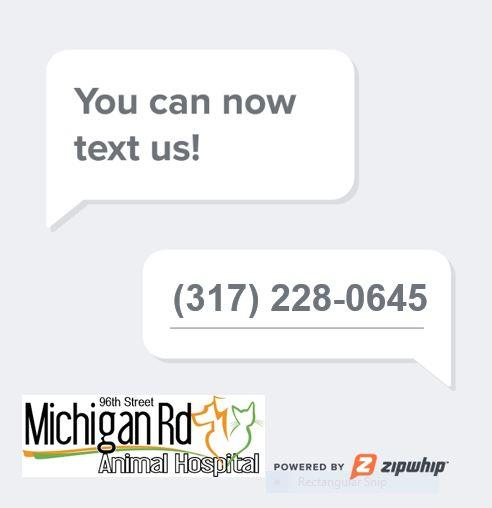 Michigan Road Animal Hospital Texting